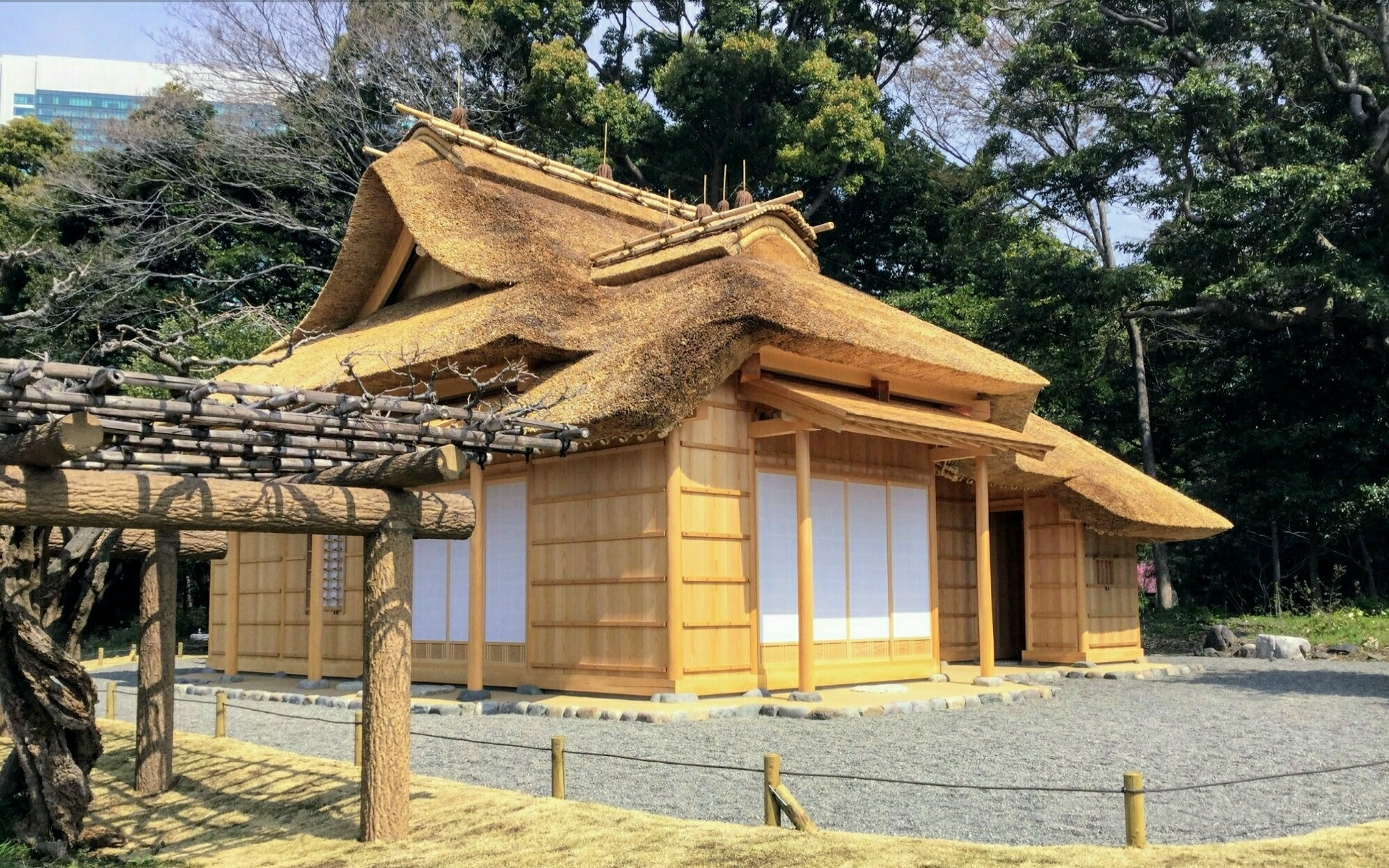Hawk Teahouse in the garden
