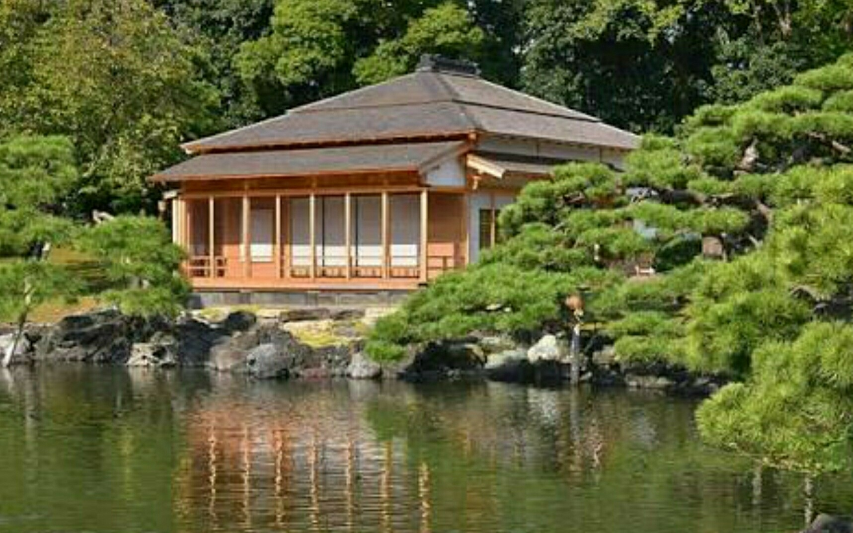 Swallow Teahouse in the garden