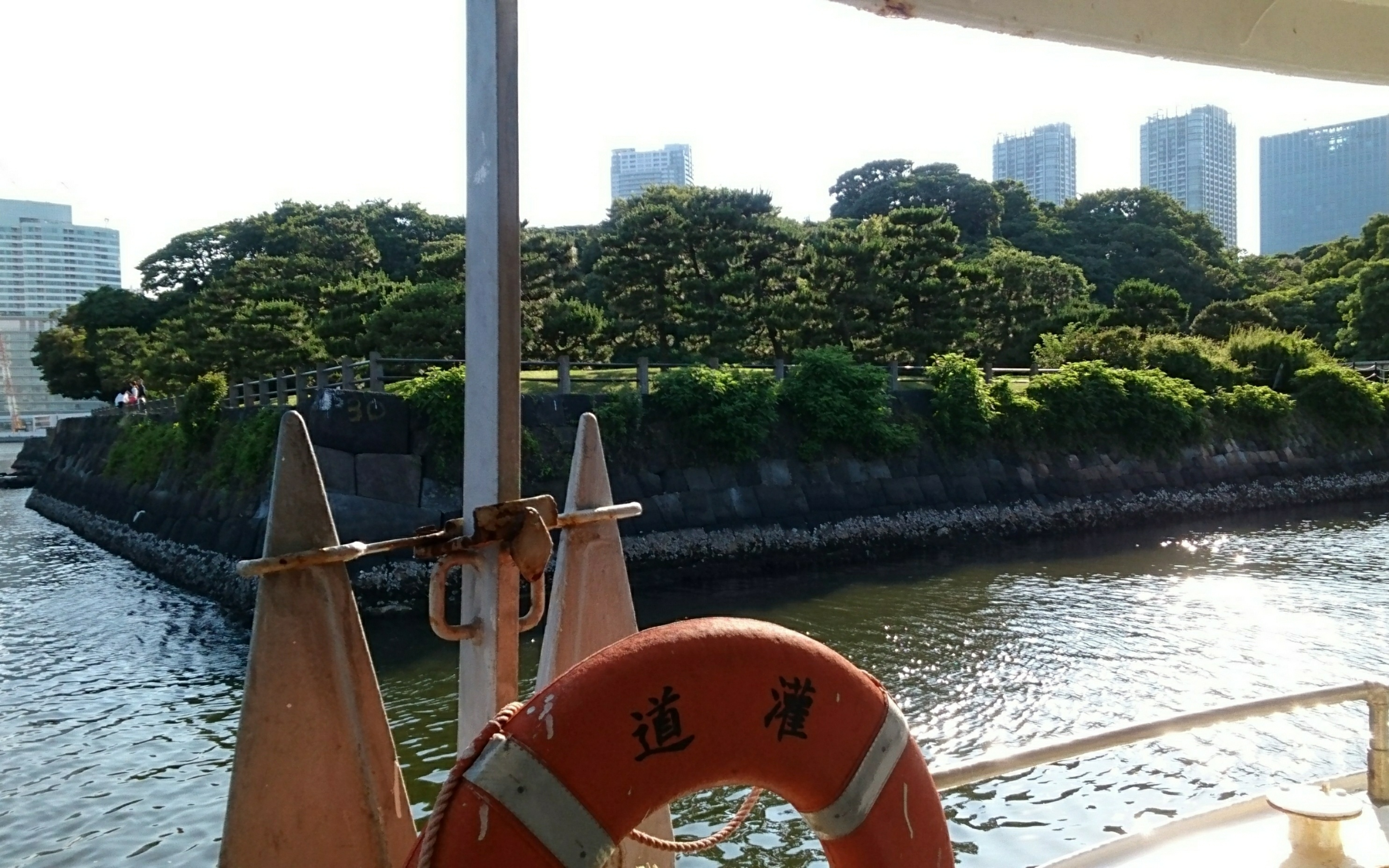 Take the waterbus at the pier of the garden to Asakusa!!(About 1 hour boat cruise on the Sumida River)