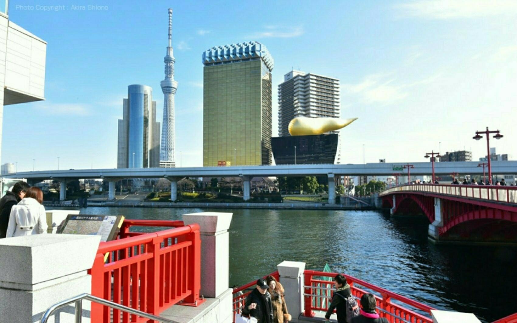 Water bus boarding place of Asakusa!!