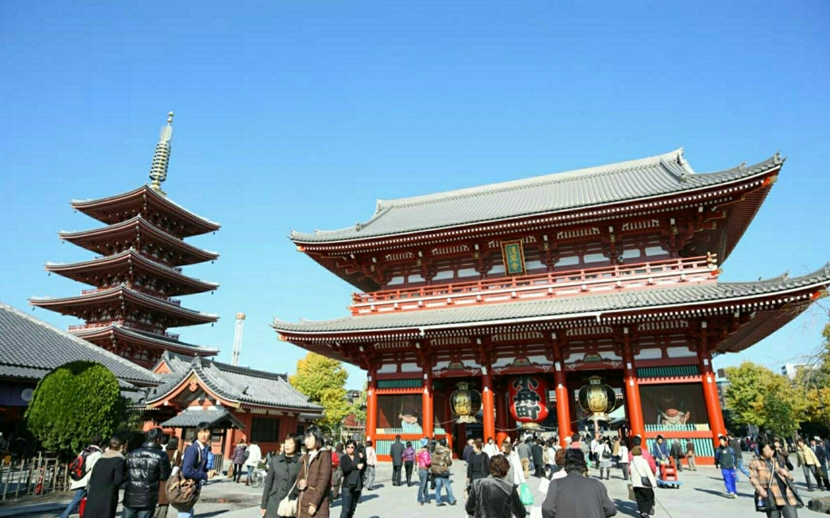 Main gate and Pagoda in Sensouji Temple