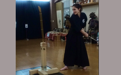 Footage from the test cutting with real Japanese sword!!