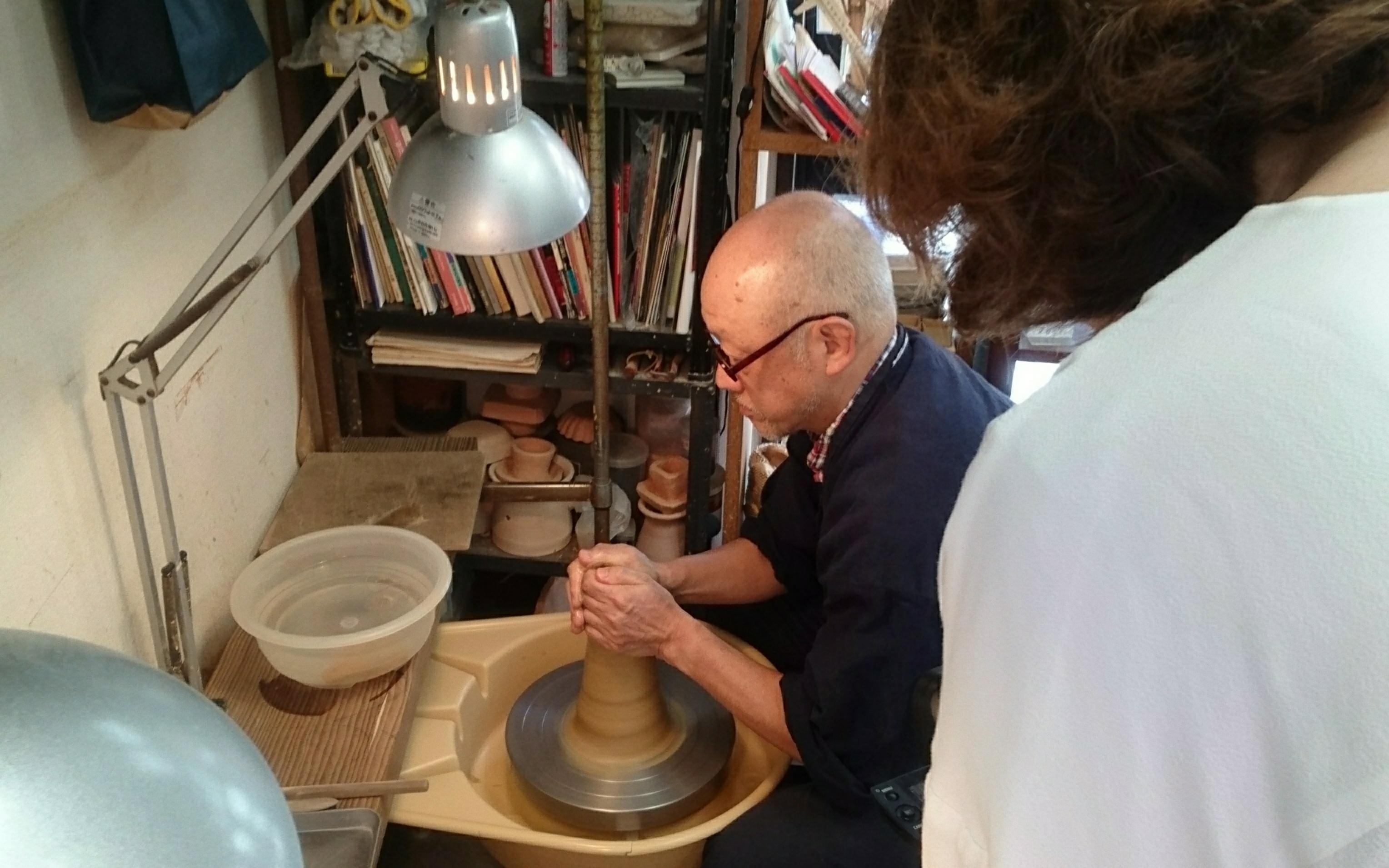 Japanese pottery studio