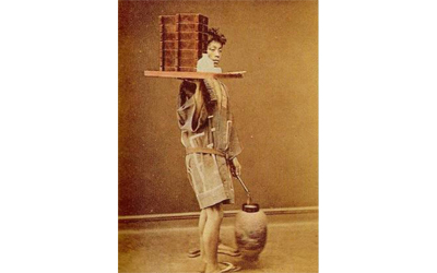 "Delivery service called ""Demae"" became common till the end of the Edo Period(1603~1868)."