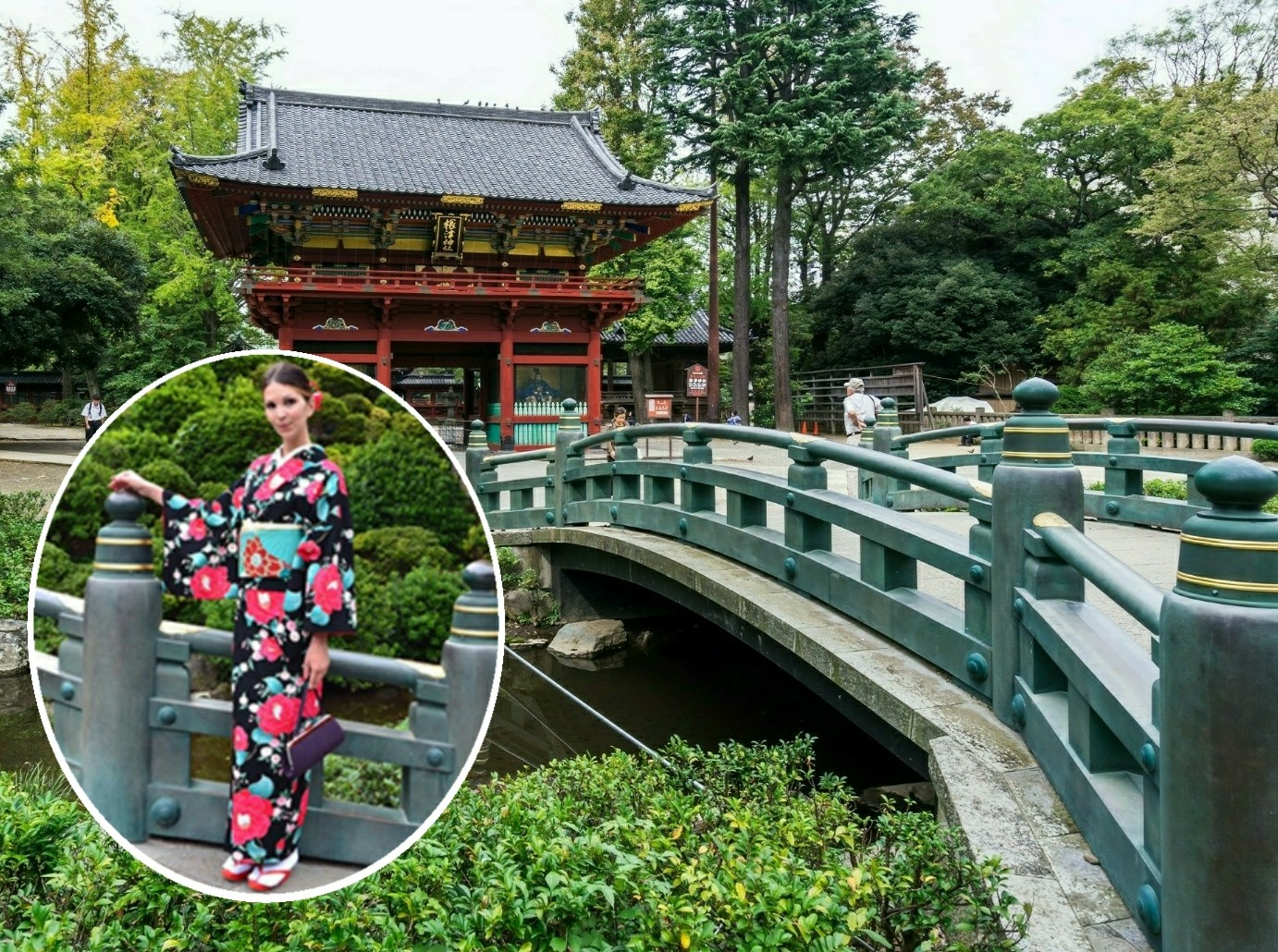 Kimono experience(option)[Available all year round], Visiting Nezu Shrine in a Kimono.