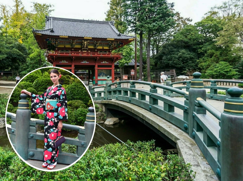 Kimono experience(option)[Available all year round], Visiting Nezu Shrine in a Kimono.