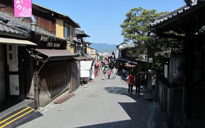 Street in front of Kiyomizu tera temple