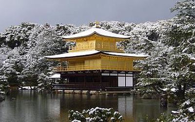 Golden Pavilion in winter