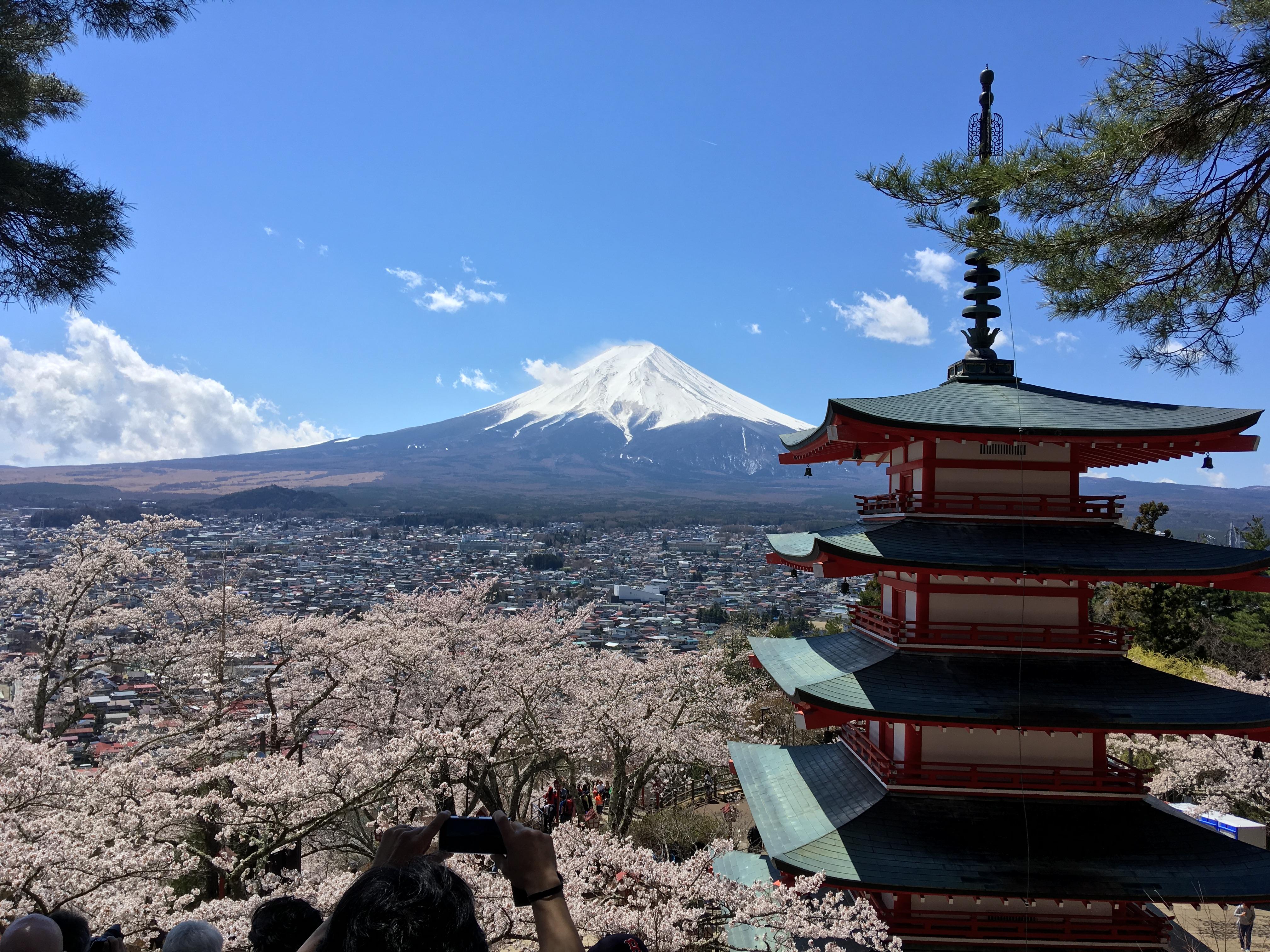 Mt. Fuji from Akarakurayama Sengen Park