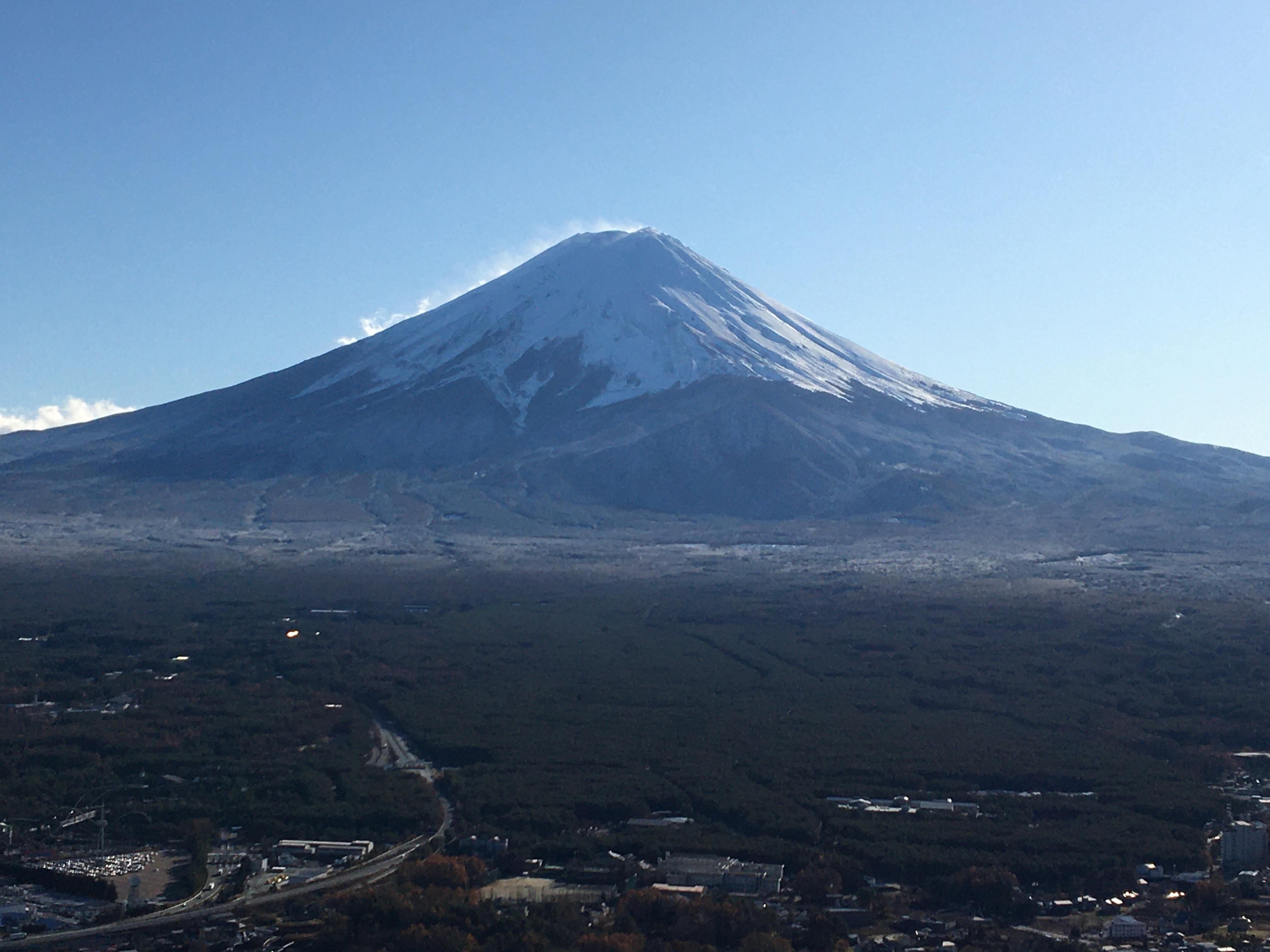 Mt.Fuji from the top station of Mt. Kachikachi ropeway