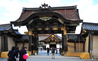Kara-mon or Chinese-style gate of Nijo castle