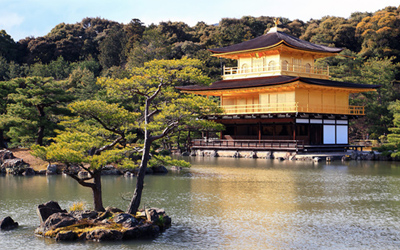 Overall view of the Golden pavilion